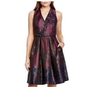 NWT Vince Camuto Jacquard Fit and Flare Dress